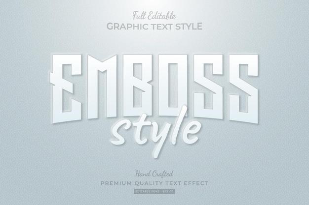 Reliëfstijl bewerkbare premium teksteffect lettertypestijl