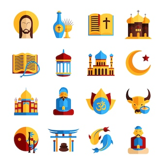 Religie icon set