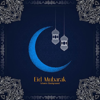 Religieus eid mubarak festival prachtig