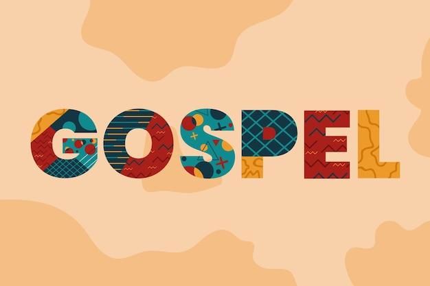 Religieus evangelie woord concept
