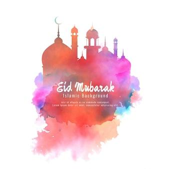 Religieuze eid mubarak elegante kleurrijke