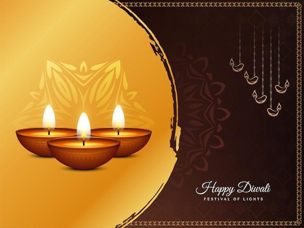 Religieuze gelukkige diwali indiase festival achtergrond