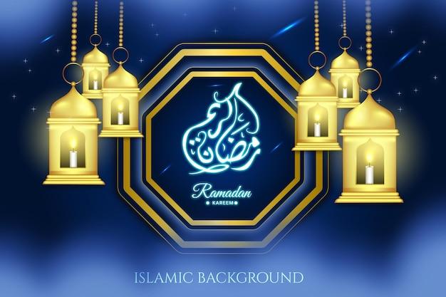Religieuze islamitische islam achtergrond arabisch ramadan maand ontwerp religie vector zwart