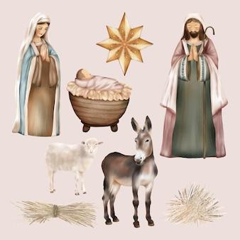 Religieuze kerstgeboorte van jezus