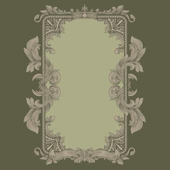 Renaissance heraldiek frame met vintage flora ornament