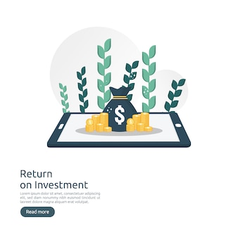 Rendement op investering roi-concept
