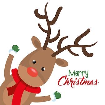 Rendier kerst karakter pictogram