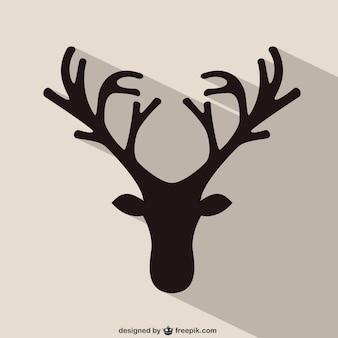 Rendieren hoofd silhouet