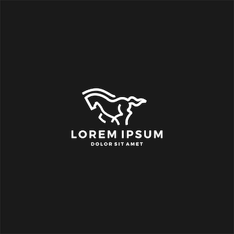 Rennend paard-logo