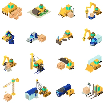 Renovatie werk icon set