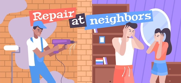 Reparatie bij buren