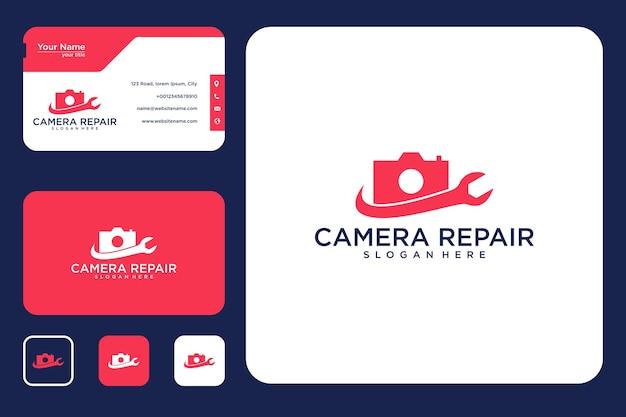 Reparatie camera logo ontwerp en visitekaartje