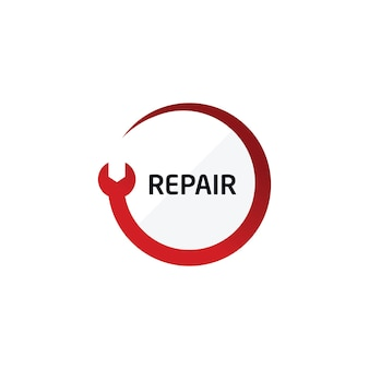 Reparatie logo automotive service center symbool