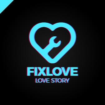 Reparatie love logo design element