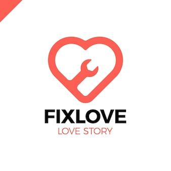 Reparatie love vector logo design element