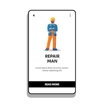 Reparatie man mechanic slijtage riem met gereedschap