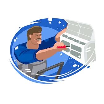 Reparatie van airconditioners. onderhoud en installatie van koelsystemen.
