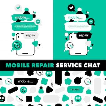 Reparatie van mobiele telefoons en elektronische service-techniek
