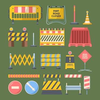 Reparatie wegenbouw set illustratie