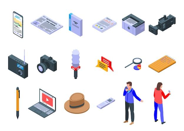 Reporter iconen set
