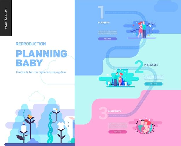 Reproductie - infographic sjabloon