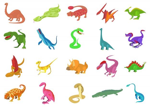 Reptielen icon set