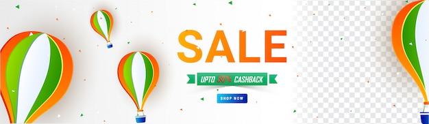 Republic day sale header ontwerp