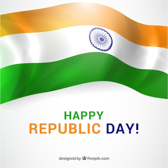 Republiek dag achtergrond met glanzende vlag