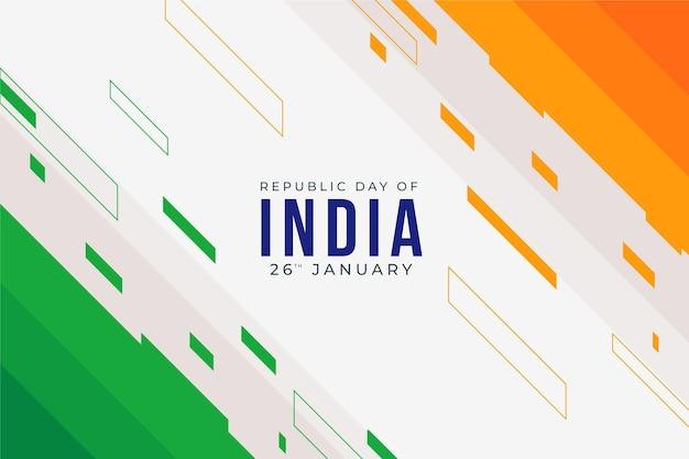 Republiek dag concept in plat ontwerp