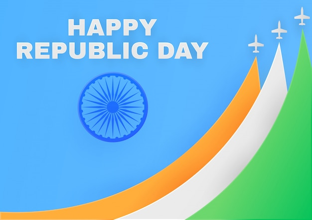 Republiek dag in india poster