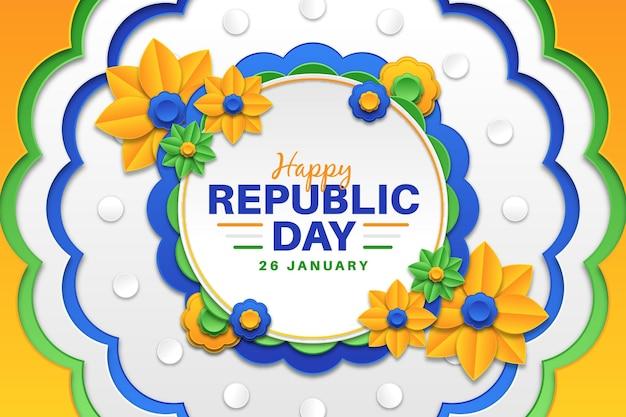 Republiek dag in papieren stijl