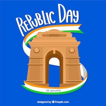 Republiek dag ontwerp wit poort