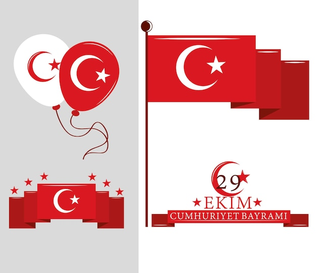 Republiek turkije dag set