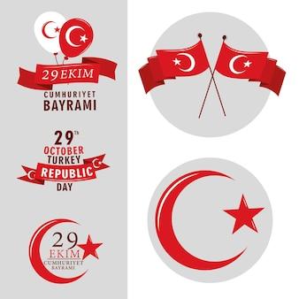 Republiek turkije feest