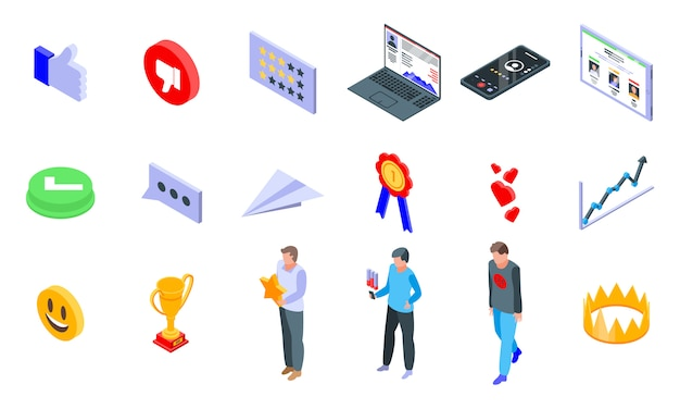 Reputatie iconen set