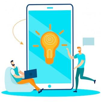 Research office team idee creëren voor opstarten
