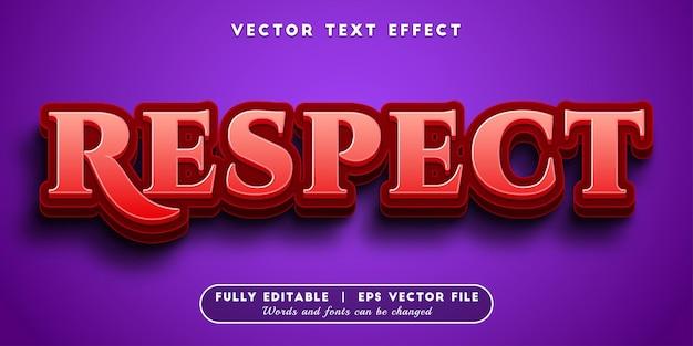 Respecteer teksteffect, bewerkbare tekststijl