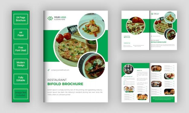 Restaurant bi-fold brochure sjabloon
