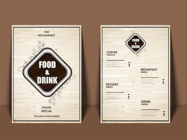 Restaurant café-menu