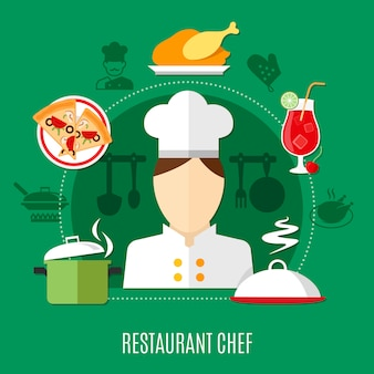 Restaurant chef illustratie
