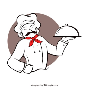 Restaurant chef karakter
