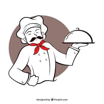 Restaurant chef karakter Premium Vector