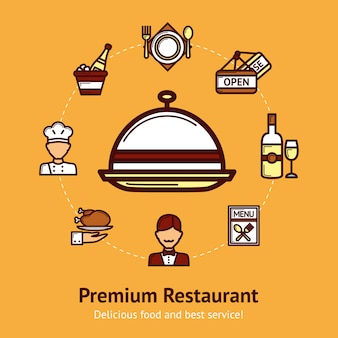 Restaurant concept illustratie