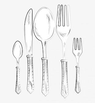 Restaurant en keuken servies