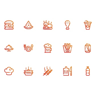 Restaurant en voedsel pictogrammen