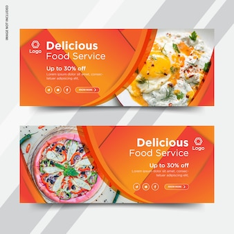 Restaurant facebook voorblad banner