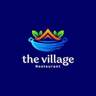 Restaurant groen dorp logo ontwerp