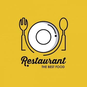 Restaurant identiteitssymbool