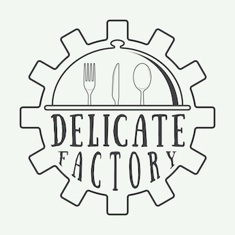 Restaurant logo badge