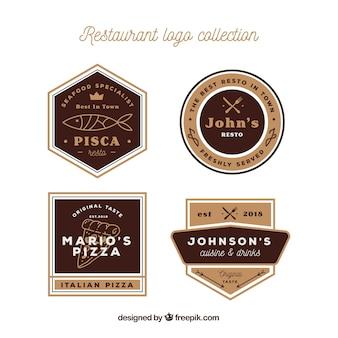 Restaurant logo-collectie